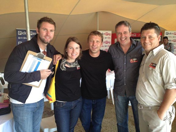 Our judging team of Matt, Louise, Salvelio and Dean with Justin Bonello at the centre. Pictures: Salvelio Meyer